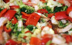 salad broccoli cauliflower red pepper